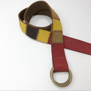 Lucky Brand Genuine Leather Patchwork Belt XS/Sml